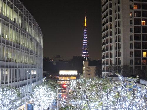 ニコンP340で撮影。けやき坂イルミネーション 2014年 画像 六本木ヒルズ