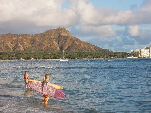 ハワイ ビーチ サーフィン Nikon COOLPIX P300