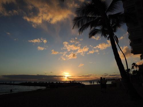 Nikon COOLPIX P310で撮影したハワイのビーチ・サンセット画像