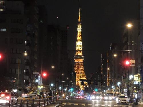 東京タワーをNikonP310で撮影(夜間)