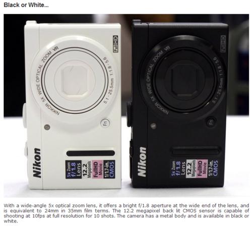 Nikon COOLPIX P330 本体画像とレビュー